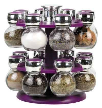 Modern Rotating 16 Jar Spice Rack