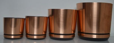 Modern Plastic Copper Planter