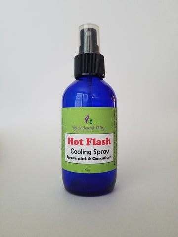 Hot Flash Cooling Spray - Spearmint & Geranium