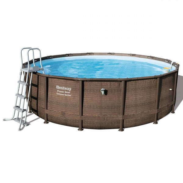 Bestway 16ft Power Steel Deluxe Series Swimming Pool Set - Kvittex