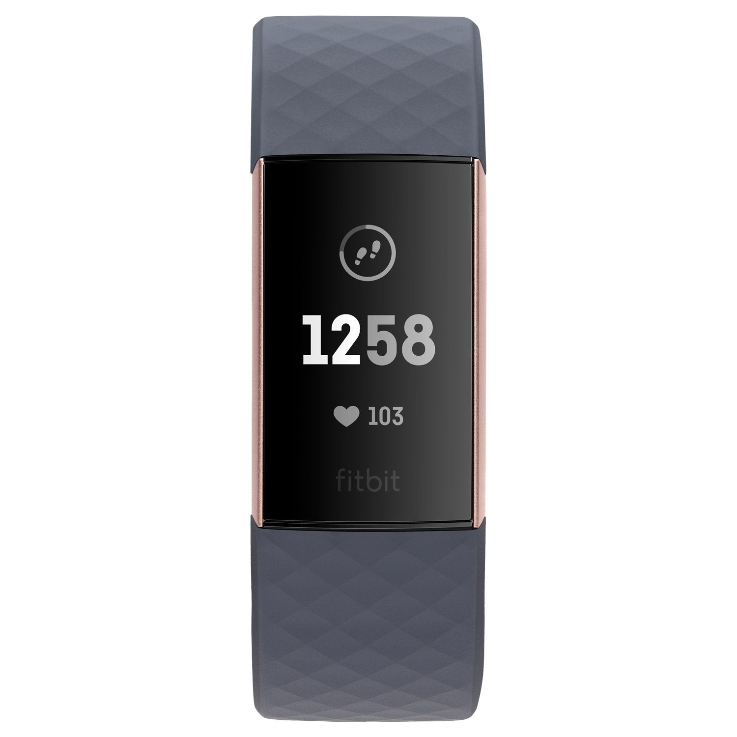 Fitbit Charge 3 Blue Grey/Rose-Gold - Kvittex