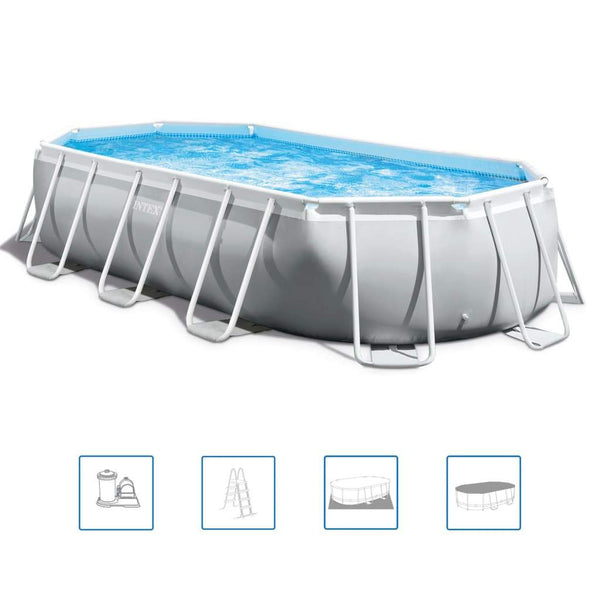Intex Prism Frame Pool oval 503x274x122 cm 26796GN - Kvittex