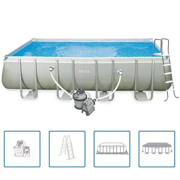 Intex Rektangulär pool Ultra set 549 x 274 x 132 cm 28352GN - Kvittex