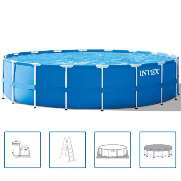 Intex Stålram Rund Pool Set 549 x 122 cm 28252 GN - Kvittex