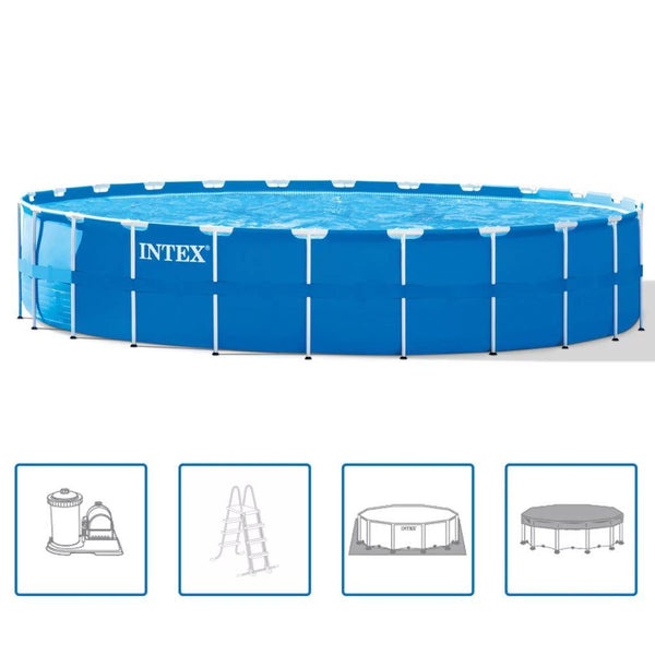 Intex Stålram Rund Pool Set 732 x 132 cm 28262GN - Kvittex