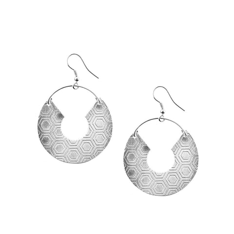 Angelco Accessories Silver Honeycomb Earrings