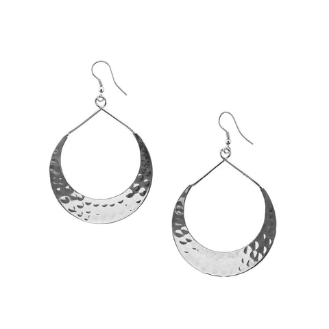 Angelco Accessories Silver crescent earrings