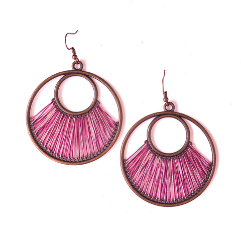 Angelco Accessories Iris earrings - pink