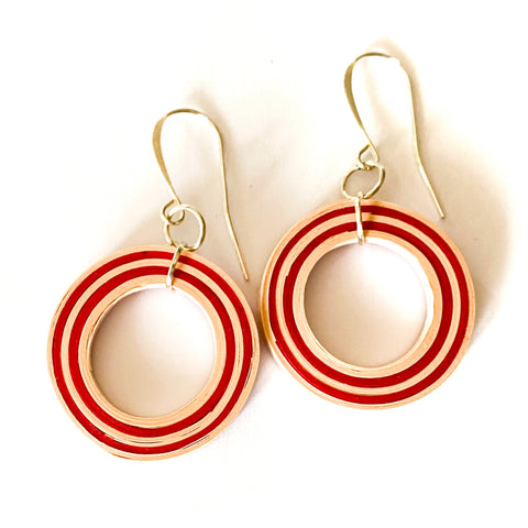 Candy Loop Paper Earrings
