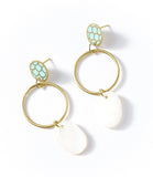 Angelco Accessories Scallop ring drop earring