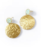 Angelco Accessories Scallop gold coin drop earring
