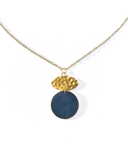 Angelco Accessories Cobalt disc necklace