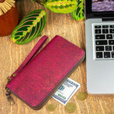 Angelco Accessories wine red cork wallet