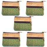 Angelco Accessories small double zipper cork coin purse