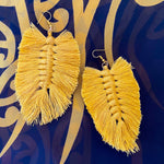 Macrame feather earrings - 4 colours available