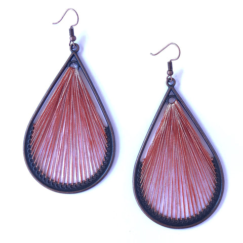 Angelco Accessories Teardrop straight weave earrings