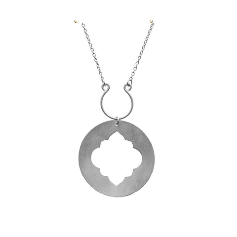 Angelco Accessories silver ashram window necklace
