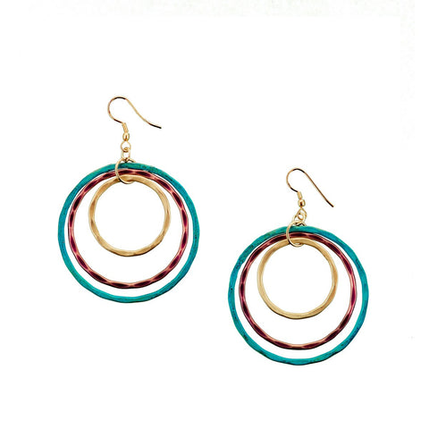 Angelco Accessories triple ripple earrings