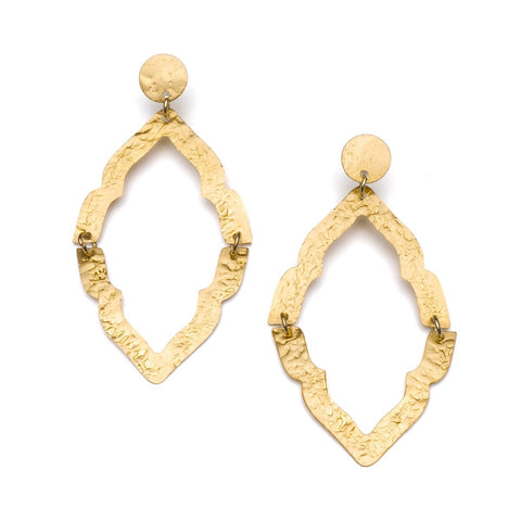 Angelco Accessories Ashram Window Drop Earring - Gold
