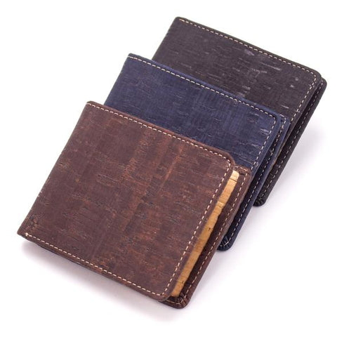 Angelco Accessories Cork men's style inner zipper wallet
