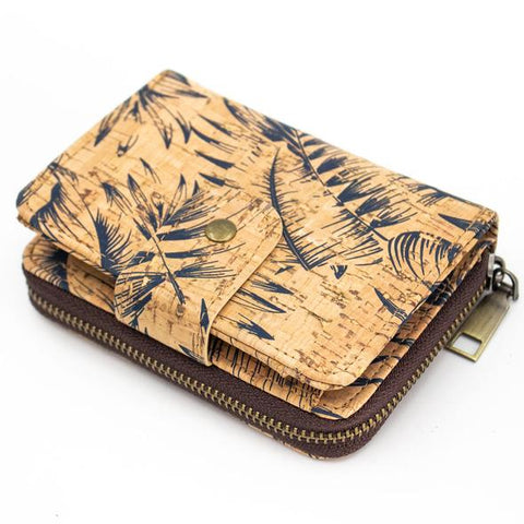 Angelco Accessories Blue Palm Cork Foldout Wallet