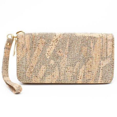 Angelco Accessories Snakeskin Print Cork Wallet