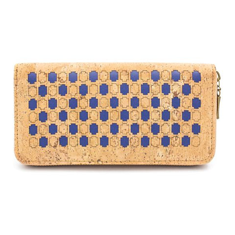 Angelco Accessories laser cut cork tiled design wallet - 3 colours available