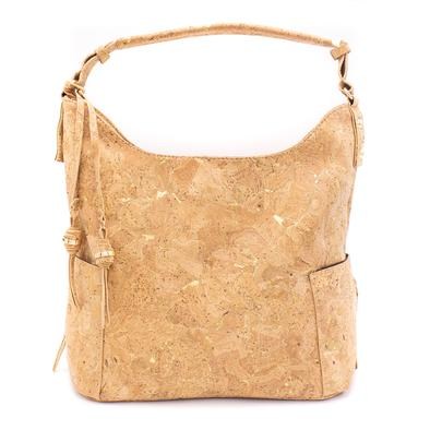 Angelco Accessories Cork hobo bag - gold or silver vein