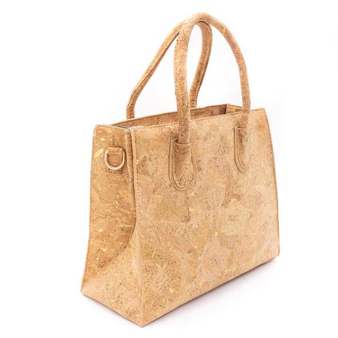 Angelco Accessories Gold Cork Tote