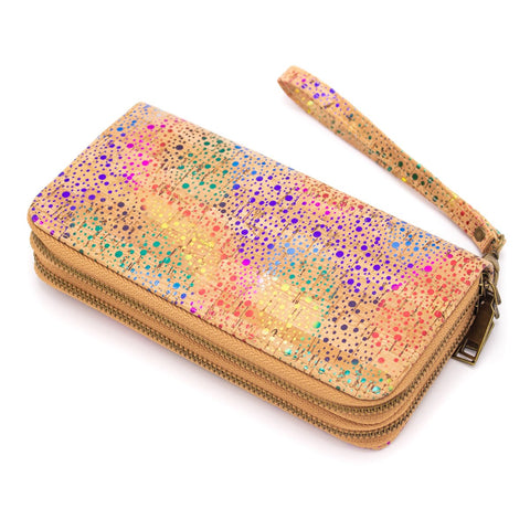 Angelco Accessories Rainbow cork double compartment wallet