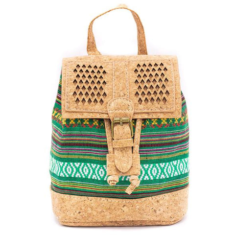 Angelco Accessories Small Cork and Woven Backpack