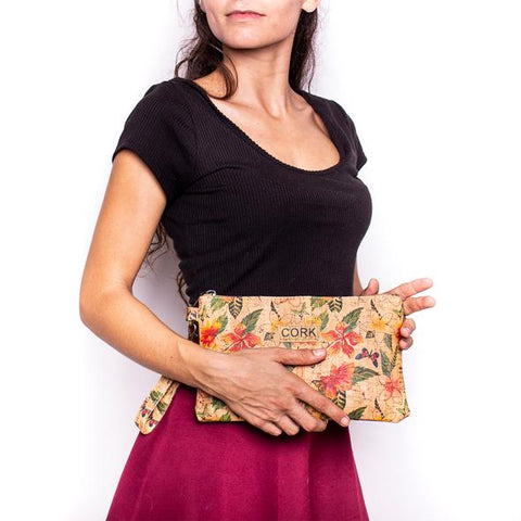 Angelco Accessories - Zippered cork clutch