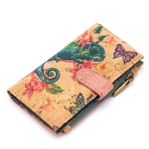 Angelco Accessories Patterned Cork Soft Wallet - Iguana