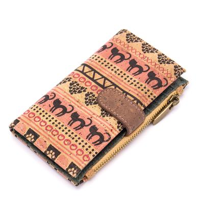 Angelco Accessories Patterned Cork Soft Wallet - Black Cat
