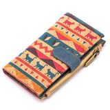 Angelco Accessories Patterned Cork Soft Wallet - Cat