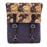 Angelco Accessories Cork Laptop Backpack - navy floral