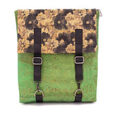 Angelco Accessories Cork Laptop Backpack - green floral