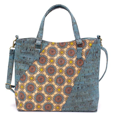 Angelco Accessories - Pattern panel cork handbag