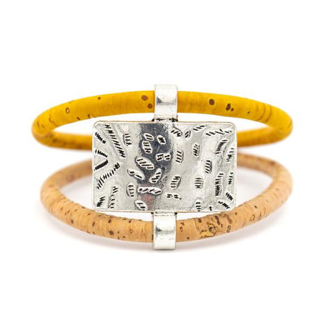 Angelco Accessories rectangle cork bracelet