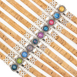 Mosaic bead cork band - natural colour cork - varied colour mosaics