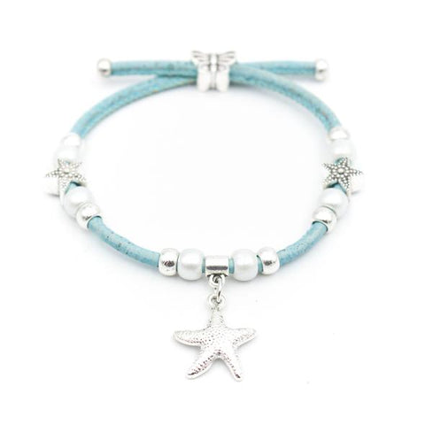 Angelco Accessories starfish and pearl cork bracelet