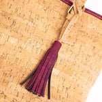 Angelco Accessories Natural Cork Tote with Coloured Tassel