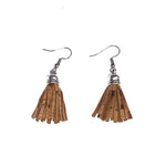 Angelco Accessories Cork tassel earrings