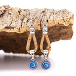 Angelco Accessories Blue mosaic cork drop earring