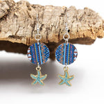 Angelco Accessories blue starfish earrings