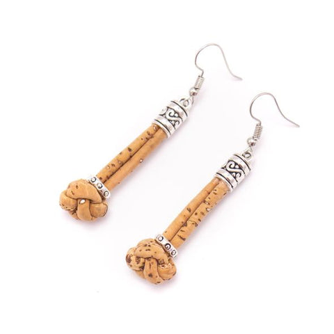 Cork knot earrings - 5 colours available