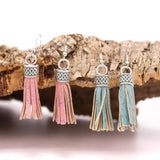 Angelco Accessories Coloured Cork Tassel Earrings