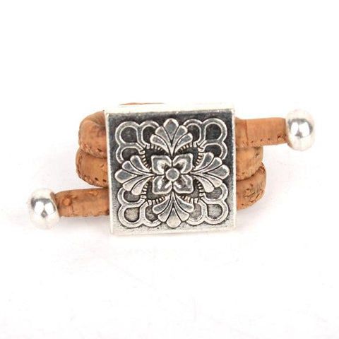 Angelco Accessories square medallion cork ring