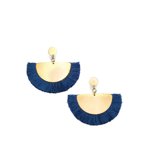 Angelco Accessories Cosmos Fan Earring - Blue