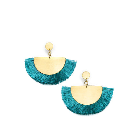 Angelco Accessories Cosmos Fan Earring - Teal